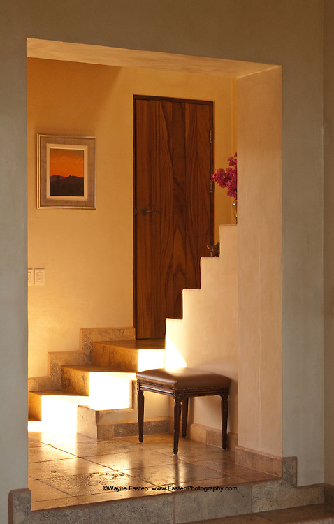 Stone stairs in vacation villa, Tamarindo, Costa Rica