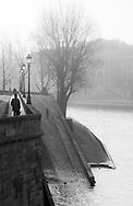 France. Paris. 4th district . Saint louis island , quai d orleans  / ILe Saint Louis