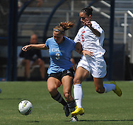 Ole Miss' Rafaelle Souza (6) vs. The Citadel's Shanna Couch (3) in women's soccer action at the Ole Miss Soccer Field in Oxford, Miss. on Monday, September 12, 2011. Ole Miss won 6-1.