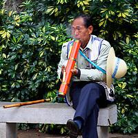 Asia, China, Kunming. Ethnic minority male.