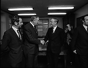 James Callahan PM with Liam Cosgrave TD.05/02/1971