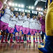 NCAA WOMEN'S BASKETBALL 2013 - Feb 24 - No. 18 Delaware defeated James Madison 61-60