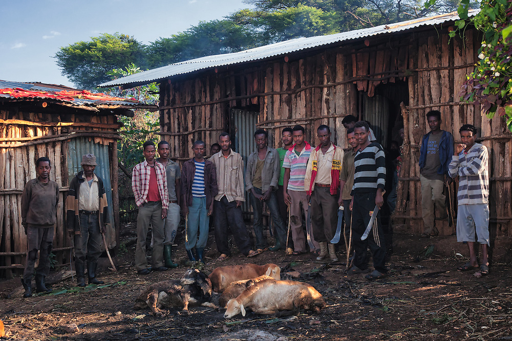 The coffee pickers and farmers at Burka Gudina Coffee Farm in the Limu region of Ethiopia.