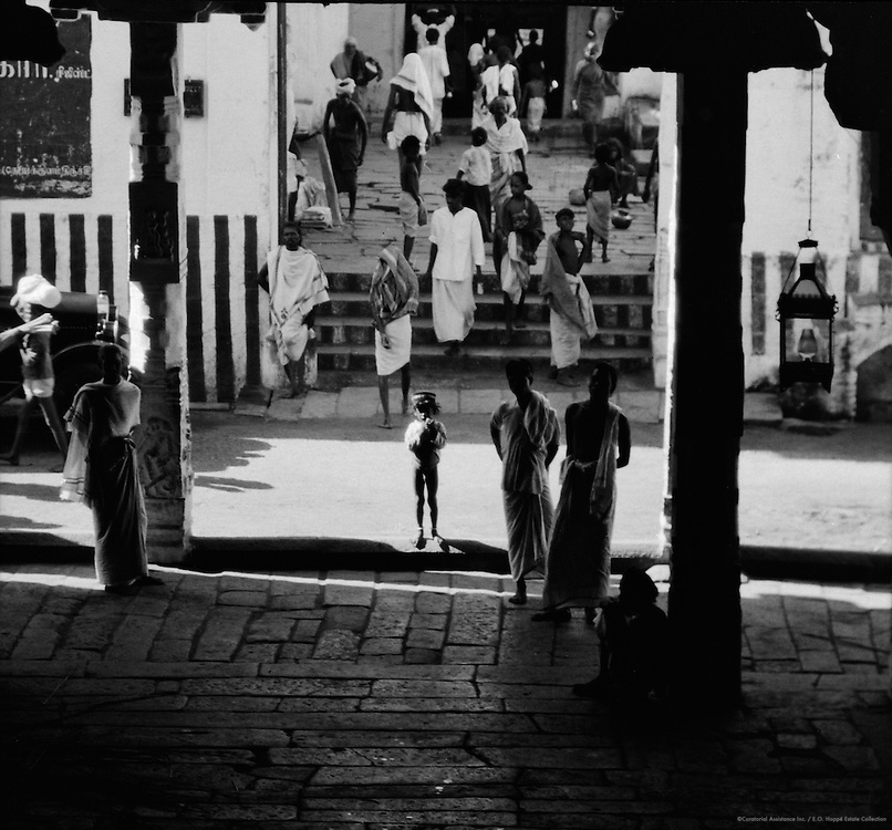 Entrance to Rock Temple, Tiruchirappalli, India, 1929