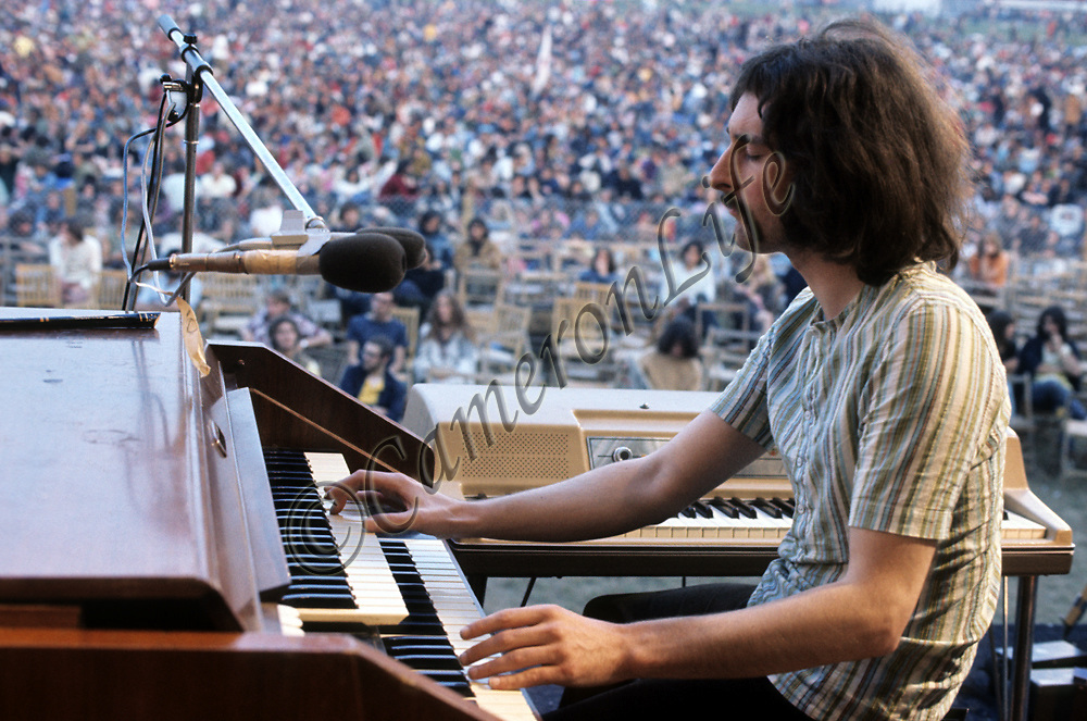 Rick Davies - Supertramp.-.One of the most recognised groups of the Twentieth Century, Supertramp have kept fans hanging on over the decades with songs such as The Logical Song, Breakfast in America and Dreamer.  Here at the IOW however, they were in their first year as a group, performing their own form of progressive rock. Over the next two years the line-up altered considerably, leaving only two original band members, most likely contributing to their change in musical direction.