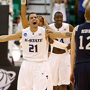 Kansas State takes on Xavier as they play to decide who will advance to the elite eight of the NCAA Division 1 mens basketball Championship at a game at the EnergySolutions Arena in Salt Lake City, Utah Thursday, March 25, 2010.  August Miller, Deseret News .