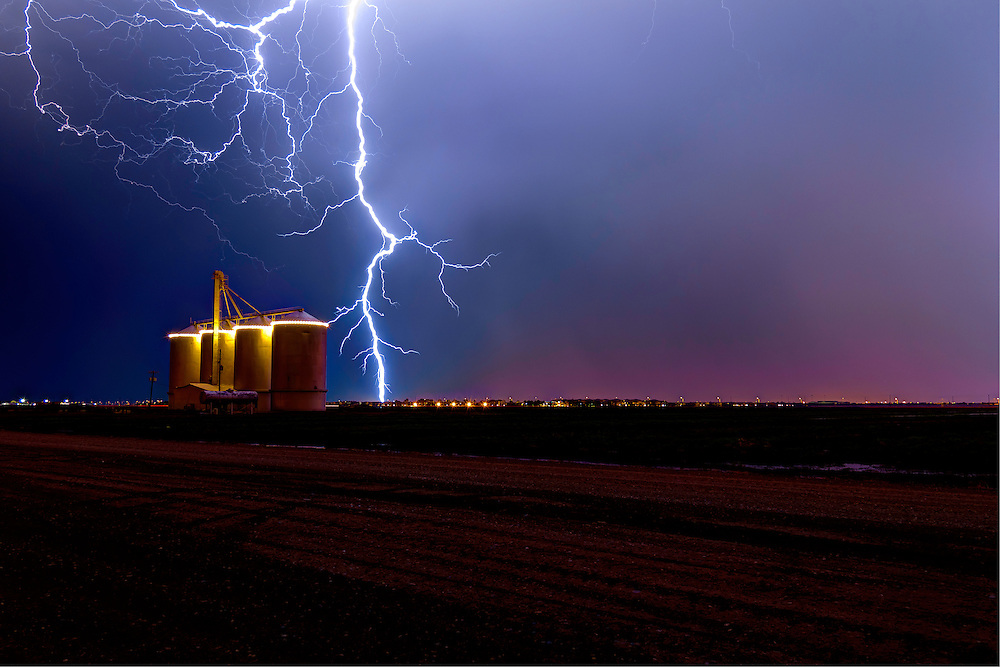 Lightning over the silos