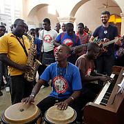 Teacher Jam at Ecole de Musique Dessaix Baptiste, Jacmel, Haiti