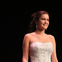 Savannah Dougherty competes in the evening gown portion during the 66th North Carolina Azalea Festival Scholarship Pageant at Saturday March 8, 2014 at Kenan Auditorium in Wilmington, N.C. (Jason A. Frizzelle)