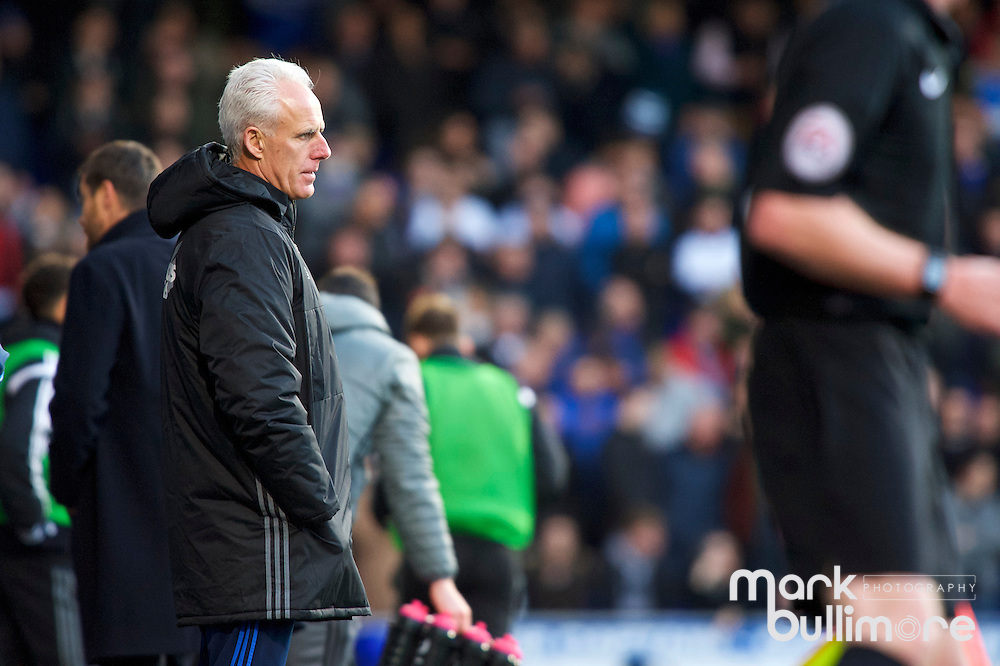 Ipswich, Suffolk. Football action from Ipswich Town v Fulham at Portman Road in the Sky Bet Championship on the 26th December 2016. Manager of Ipswich Town, Mick McCarthy.<br /> <br /> Picture: MARK BULLIMORE