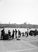 Swimmers on the Golden Horn
