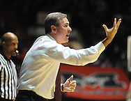"Mississippi State coach Rick Stansbury vs. Mississippi at the C.M. ""Tad"" Smith Coliseum in Oxford, Miss. on Wednesday, January 18, 2012. (AP Photo/Oxford Eagle, Bruce Newman)."