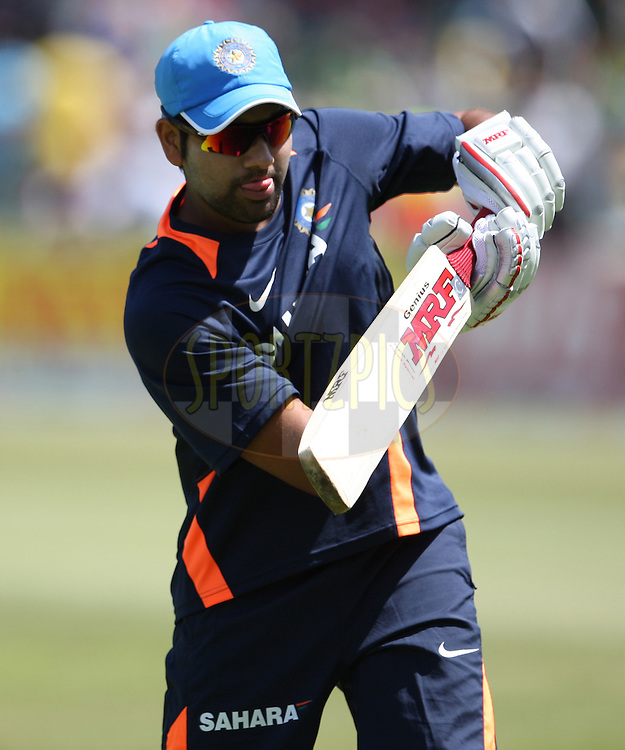 Rohit Sharma during the 1st ODI between South Africa and India held at Kingsmead Stadium in Durban, South AFrica on the 12th January 2011 )..Photo by Steve Haag/BCCI/SPORTZPICS