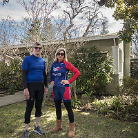 """Our families have shared this house for many years...there's something amazing about coming up to Calistoga...it's the only place I can truly relax.""  -San Francisco resident Heather Wilson as she and her friend, Larry Simi, prepare to head out for a bicycle tour of the upper Napa Valley."