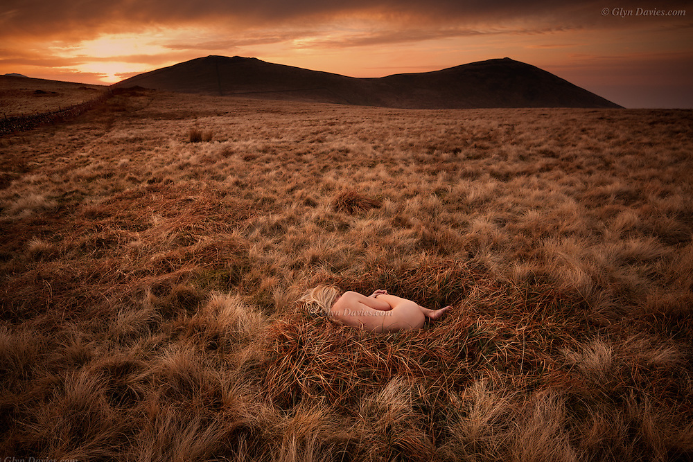 &quot;It was too early in the year for the Skylarks, that take off in haste from #moorland grasses, singing for their lives after being disturbed. On this cold Spring evening, within a natural bed of lush grass, lay resting a delicate, #naked woman. I asked her if she was OK and she said &ldquo;Yes, it&rsquo;s surprisingly warm here in my nest, but thank you for asking&rdquo;. The sun disappeared behind the distant hills, the air cooled dramatically and the woman closed her eyes, and slept&quot;<br /> <br /> Although the nude is vital to the project and integral within the images, the images are not just &lsquo;nudes&rsquo; &ndash; they are landscapes and stories. In a way they are just simple, beautiful, dreamlike visual questions