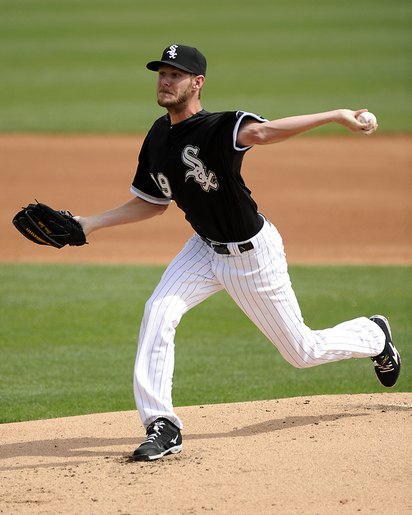 GLENDALE, AZ - MARCH 05:  Chris Sale #49 of the Chicago White Sox pitches against the San Diego Padres on March 5, 2014 at The Ballpark at Camelback Ranch in Glendale, Arizona. (Photo by Ron Vesely)  Subject:  Chris Sale