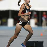BUSH -13USA, Des Moines, Ia. - Nicole Bush pulls away in the final meters of the steeplechase.  Photo by David Peterson