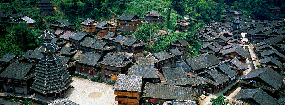 Yingtan China  city images : du Guizhou. Village Dong de Yingtan. Tour du Tambour. // China ...