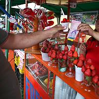 Yelismar, propietaria de La Abuela Elba durante el recorrido por el Junquito. 31-08-2008 (ivan gonzalez)