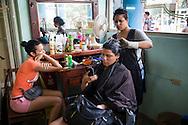 Youth , girls at airdresser -Havana, Cuba