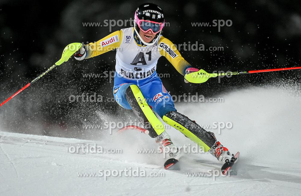 10.01.2017, Hermann Maier Weltcupstrecke, Flachau, AUT, FIS Weltcup Ski Alpin, Flachau, Slalom, Damen, 1. Lauf, im Bild Frida Hansdotter (SWE) // Frida Hansdotter of Sweden in action during her 1st run of ladie's Slalom of FIS ski alpine world cup at the Hermann Maier Weltcupstrecke in Flachau, Austria on 2017/01/10. EXPA Pictures © 2017, PhotoCredit: EXPA/ Erich Spiess