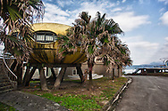 Futuro style housing development in Taiwan. The futuro style was created by Finnish architect Matti Suuronen. Approximately 100 were constructed worldwide in the late 1960s and early 1970s.