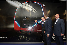 OCT 09 2014 Boris Johnson unveils New Tube for London design
