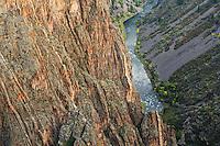 The Gunnison River in Black Canyon of the Gunnison National Park near Montrose, Colorado.