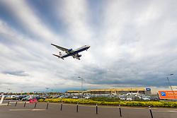 A British Airways Airbus A321 on final approach at London's Heathrow Airport (LHR / EGLL).