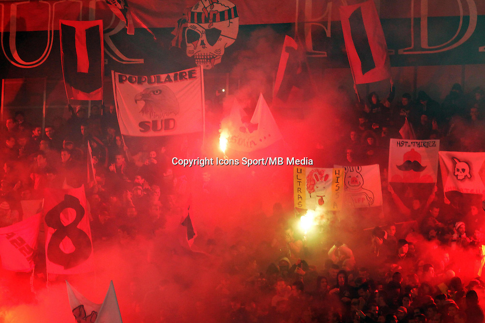 Supporters Nice  - 23.01.2015 - Nice / Marseille - 22eme journee de Ligue 1<br />Photo : Jean Christophe Magnenet / Icon Sport