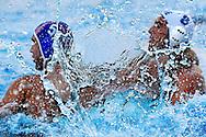 Belgrade SRB<br /> European water Polo Championships 2006, Sept. 1- 10 <br /> Water Polo Pallanuoto<br /> match Greece Vs. Croatia<br /> Water Pane<br /> We are used to see water as  a big,fluid expanse, or under the form of drops. Sometimes flows, sometimes floats in the air (fog,rain), but our eyes are not fast enough to freeze  it when mid-air. The camera can do it. --- In case of use, please mention the author -----<br /> Siamo abituati a vedere l'acqua come una vasto corpo fluido, oppure sotto forma di gocce. Qualche volta scorre, qualche volta galleggia in aria (nebbia, pioggia), ma i nostri occhi non sono abbastanza veloci per congelarla a mezz'aria. La macchina fotografica pu&ograve;.----Si prega di citare l'autore in caso di utilizzo -----<br /> Photo Giorgio Scala/Wateringphoto