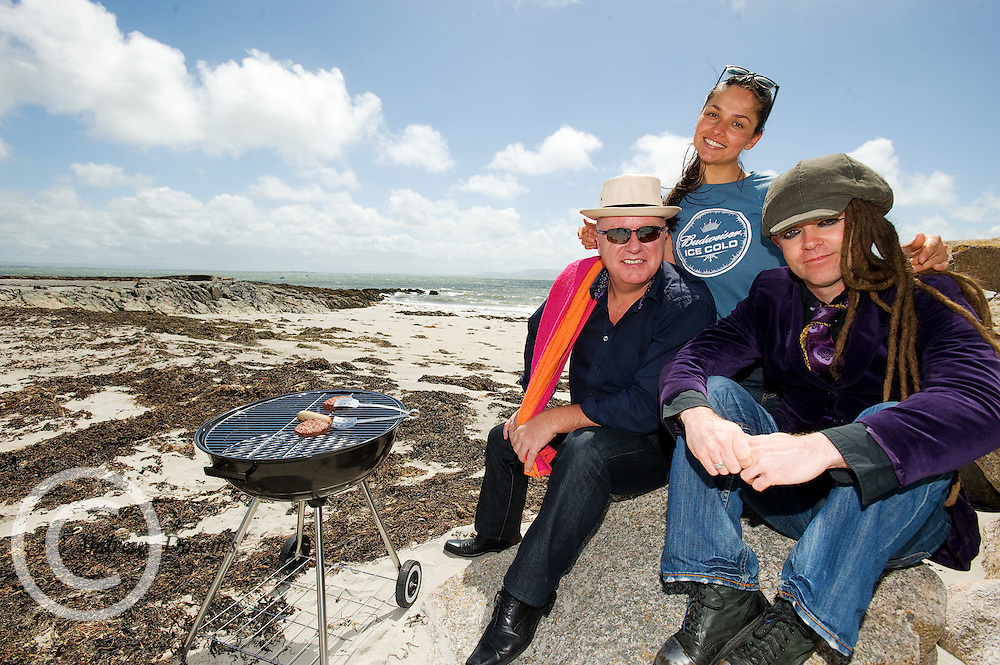 All set on the beach for the Budweiser Ice Cold Summer BBQ,  at The Galway Bay Hotel in Salthill, Galway is DJ Tony Fenton and Laura Redec  and Duke Special  . Photo:Andrew Downes...More Info:.Both Duke Special and The Divine Comedy performed at the summer kick-off party and Today FM's Tony Fenton Show broadcast live from the hotel all afternoon...The 150 invited guests included Today FM listeners ad Budweiser Ice Cold Facebook fans from all over the country. Guests also won the chance to win a cool Grand in cash, meet Mr. Iceman and of course enjoy a pint of Budweiser Ice Cold, the coldest pint ever!..Enjoy Budweiser Ice Cold sensibly visit www.drinkaware.ie ..This event was strictly over 18's,..-ENDS-..FOR FURTHER INFORMATION PLEASE CONTACT:.Killian Burns / Aoiffe Madden..Killian.burns@ogilvy.com / aoiffe.madden@ogilvy.com.WHPR..Tel: 01 6690030.