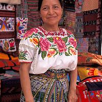 Maya Textile weaver, Chichicastenango, Guatemala, Central America