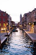 Small canal at dawn, Venice, Venetia, Italy