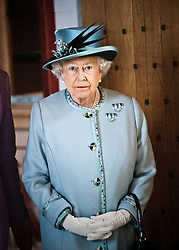 Her Majesty viewed the newly refurbished James V Palace, at Stirling Castle on Wednesday, 6th July 2011..Pic : Michael Schofield.