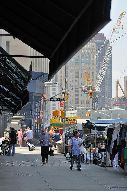 Street of Manhattan near Ground Zero