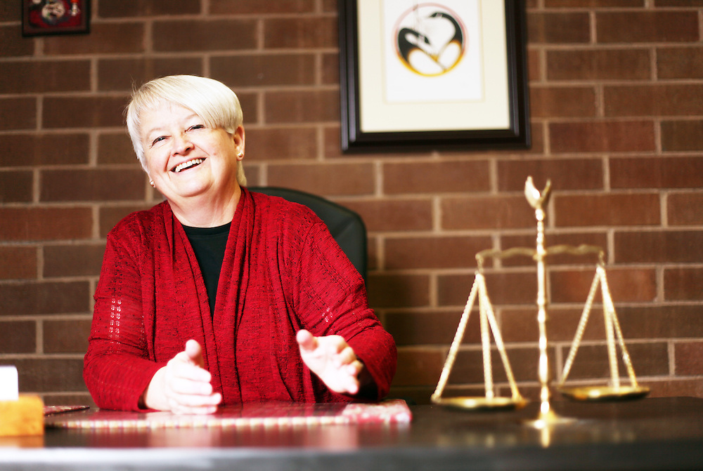 Mitzi Naucler, President-Elect of the Oregon State Bar, at the Linn County Courthouse in Albany on Friday, Oct. 21, 2011.