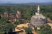 Aerial view of the Kiri Vihara Dagoba.<br />
