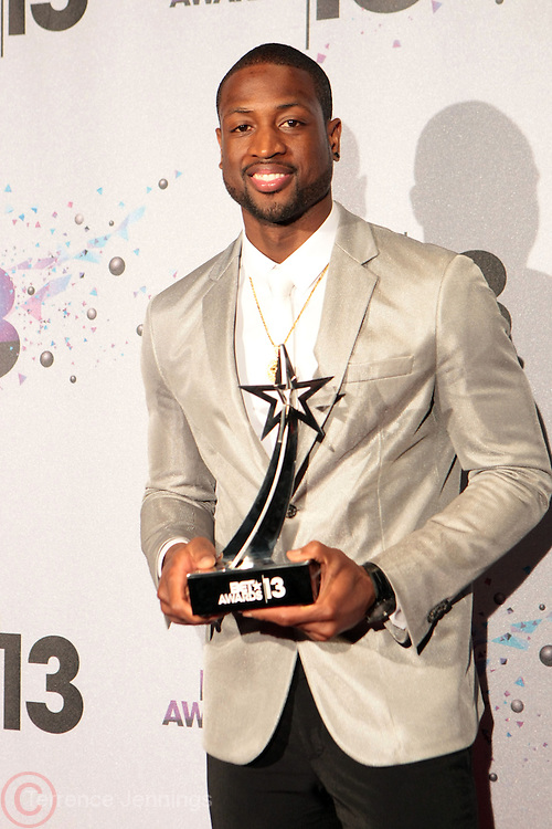 Los Angeles, CA-June 30:  NBA Player Dwayne Wade backstage at the 2013 BET Awards Winners's Room Inside held at LA Live on June 30, 2013 in Los Angeles, CA. ©Terrence Jennings/Retna, Ltd