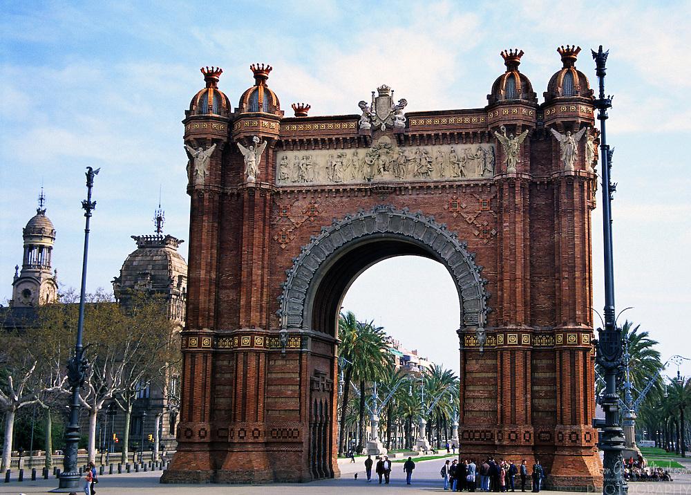 The Arc de Triomf in Barcelona, Spain was built  for the Exposición Universal de Barcelona in 1888.