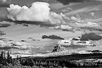 chief  mountain under billowing clouds  glacier national park waterton international piece park