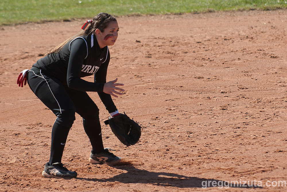 Payette shortstop Kenzie Barrera during the Vale Payette softball game, March 22, 2014 at Payette, Idaho.