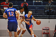 "SMU's Aliaksei Patsevich (13) vs. Ole Miss' Steadman Short (15) at the C.M. ""Tad"" Smith Coliseum in Oxford, Miss. on Tuesday, January 3, 2012. Ole Miss won 50-48."