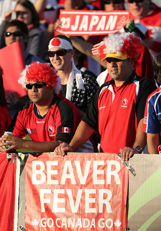 Canada supporters against Japan Canada  in their Rugby World Cup pool match at McLean Park, Napier, New Zealand, Tuesday, September 27, 2011. Credit:SNPA / John Cowpland