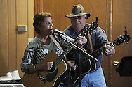 Cathy Cargo of Senatobia and John Cox of Southaven were among musicians playing at Blackjack Connection at Blackjack Presbyterian Church near Sardis Lake on Monday, March 21, 2010.