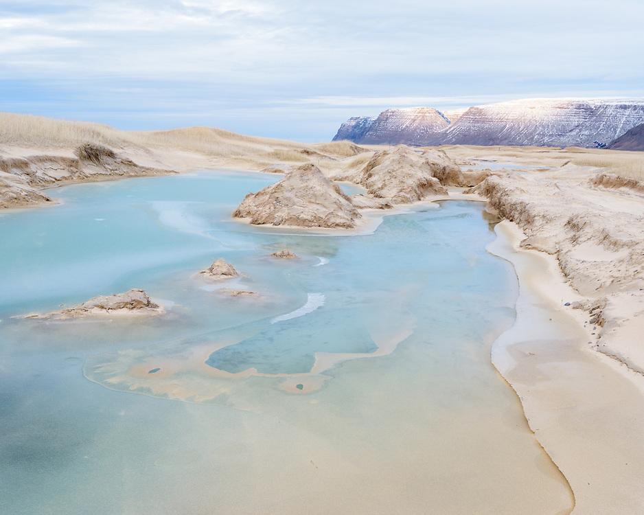 Meltwater in dune slacks, Iceland