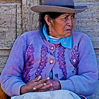 Cusco , Peru - May 27 : Peruvian woman in a market in Cusco Peru , May 27 2011