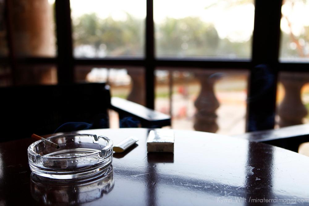 Central America, Cuba, Havana. Cigarette and ashtray at Hotel Nacional de Cuba bar.