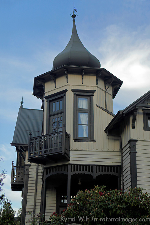 South America, Chile, Puerto Varas. Architecture of Puerto Varas.