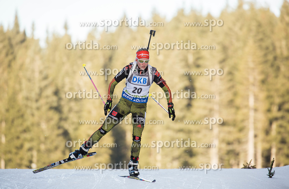 Franziska Hildebrand (GER) competes during Women 7,5 km Sprint at day 2 of IBU Biathlon World Cup 2015/16 Pokljuka, on December 18, 2015 in Rudno polje, Pokljuka, Slovenia. Photo by Vid Ponikvar / Sportida
